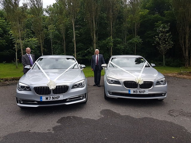 Kev and Ray all ready for a Wedding with our two BMW 730's!