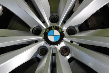 BMW wheel close-up