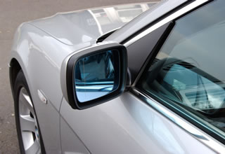 BMW mirror and A pillar